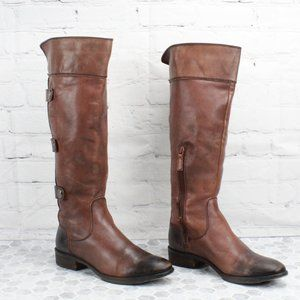 Arturo Chiang Leather Tall Riding Boots